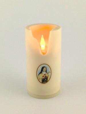 Elektrisches Grab-Licht LED Kerze Wachslook groß 16 cm