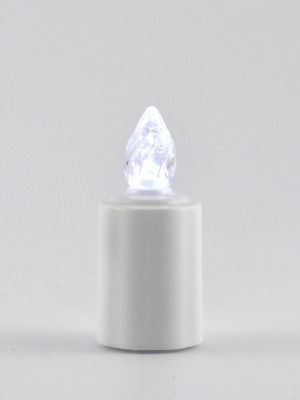 Elektrisches Grab-Licht mit Schalter & Batterien (austauschbar) weiß