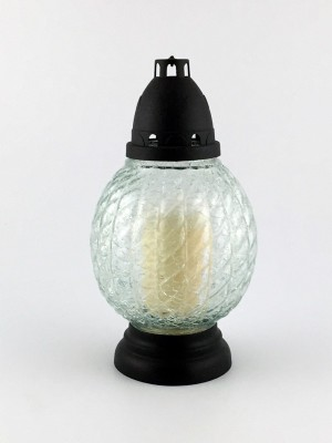 "Glas-Grabkerze ""Spezial Bruchglas"" 24 cm"