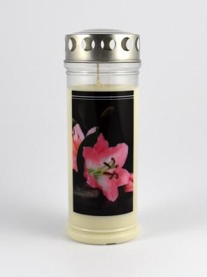 JEKA Austria Grabkerze M51-Lilie, mit Witterungsschutz, aus Pflanzenöl