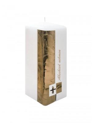"JEKA-Zierkerze Vierkant ""bronze"" groß 20 x 7 cm"