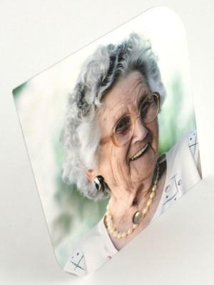 Alu-Gedenktafel zum Aufstellen 26,5 x 26,5 cm wetterbeständig