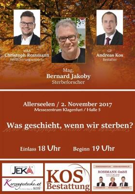 """Ticket für Vortrag von Bernard Jakoby """"Was geschieht, wenn wir sterben?"""""""