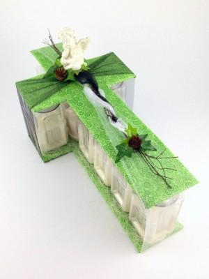 Kerzengesteck Crozario weiß oder violett