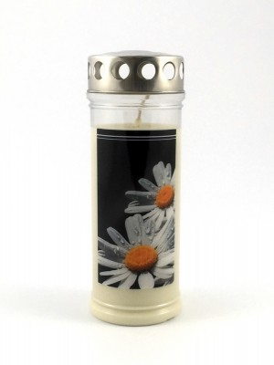 JEKA Austria Grabkerze M41-Margerite, mit Witterungsschutz, aus Pflanzenöl