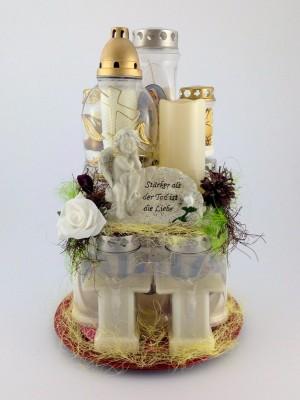 Kerzengesteck Blanco