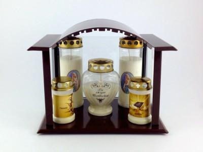 Kerzenhaus braun beschichtet groß 25 x 35 x 29 cm