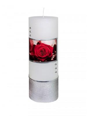 """JEKA-Zierkerze """"Rose"""" groß 20 x 7 cm"""